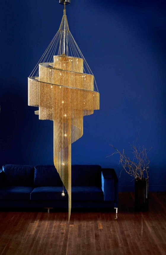 Willowlamp Sprial nebula chandelier
