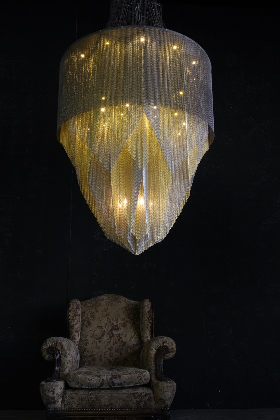 Willowlamp Crystal Mandala chandelier