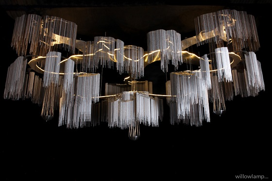 Custom Windfall chandelier for René Dekker