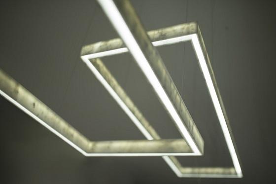 Inarchi Light Beam carrara marble rectangular pendant light
