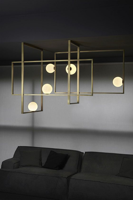 Mondrian Glass ceiling-mounted chandelier from Venice M