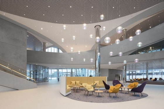 Iris pendants from Neo/Craft in the Merck Innovation Center, Darmstadt