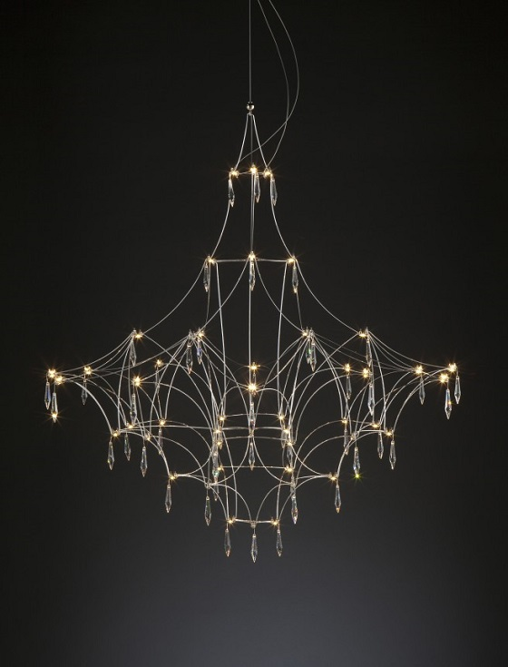 Quasar Mira contemporary chandelier