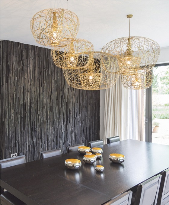 Artelier C Haute Couture Carbon Cetus over dining table