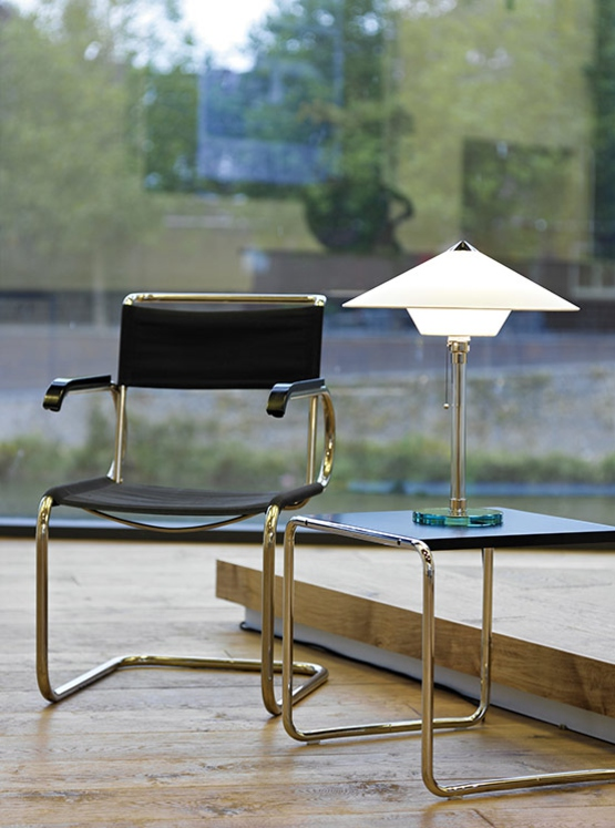 wg28 table light by Wilhelm Wagenfeld from Tecnolumen