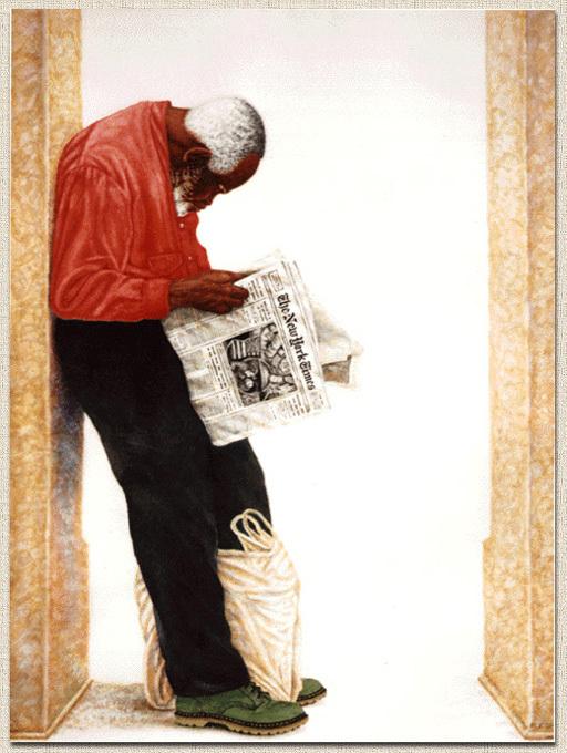 Gatekeeper  1995  20x14  watercolor
