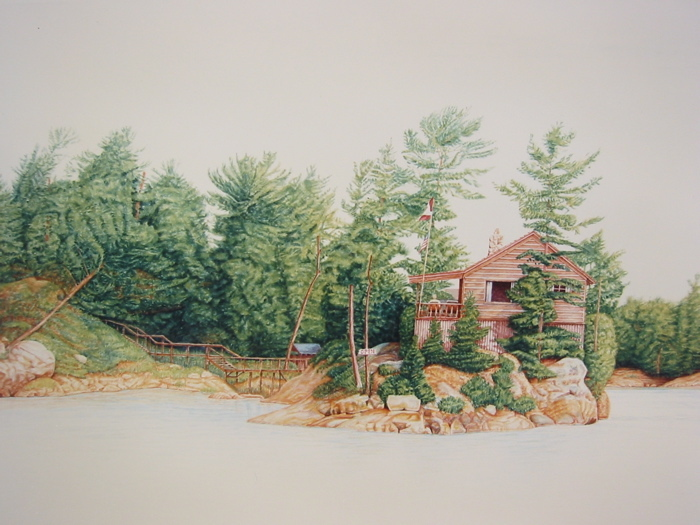St. Joseph Island  1991  30x23  watercolor