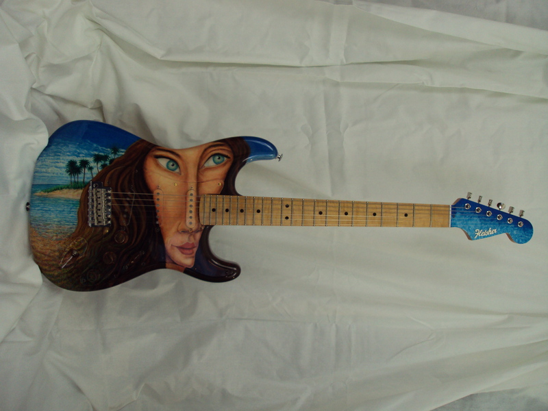 Island Girl Strat Guitar 2000 set-up Rudy's Music, NYC