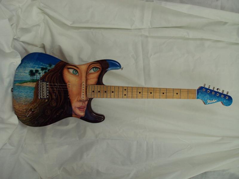 Island Girl Strat Guitar 2000 set-up Rudy's Music, NYC