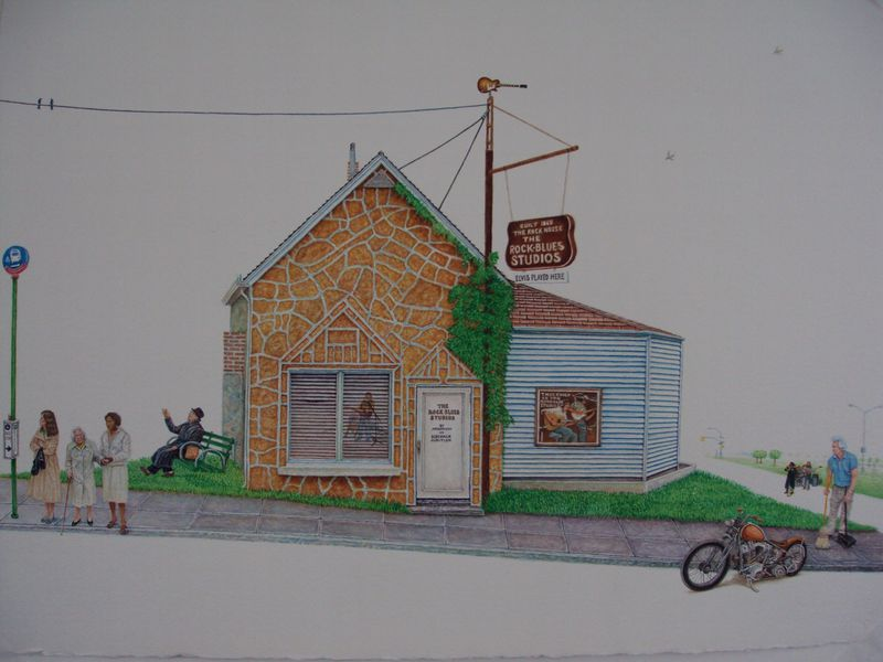Rock n Blues Studio  2010  30x22  watercolor