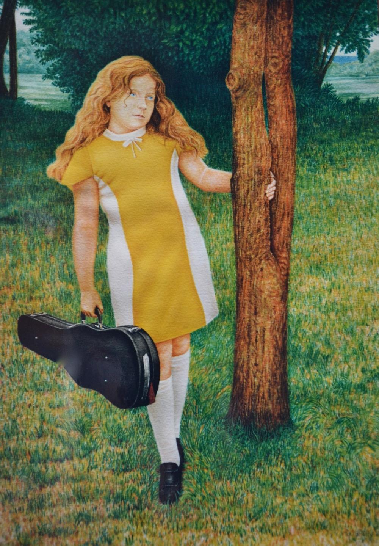 Liza with Violin  1994  20x14   watercolor