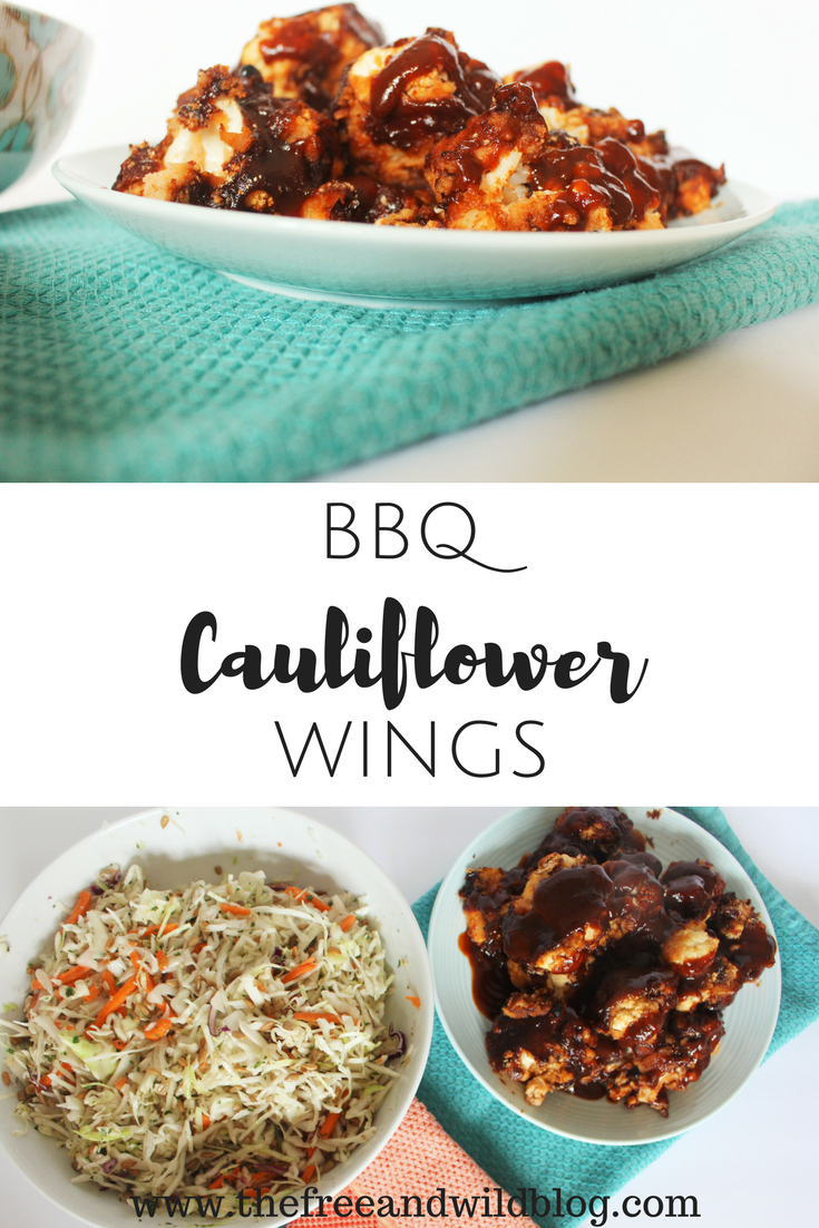 BBQ Cauliflower Wings// The Free & Wild Blog