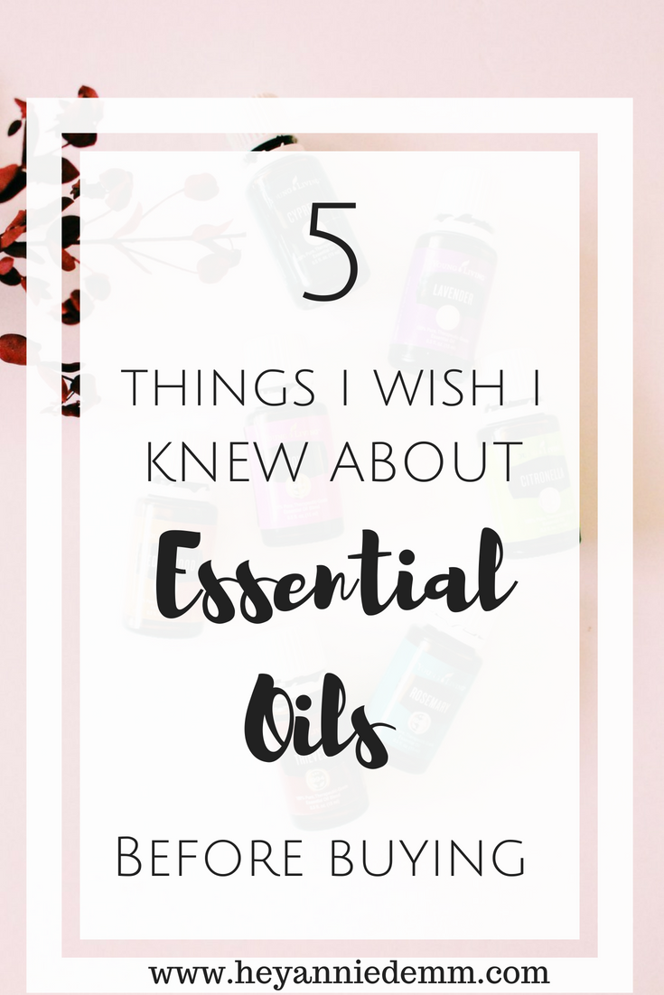 5 Things I Wish I Knew Before Buying Essential Oils // Hey, Annie Demm