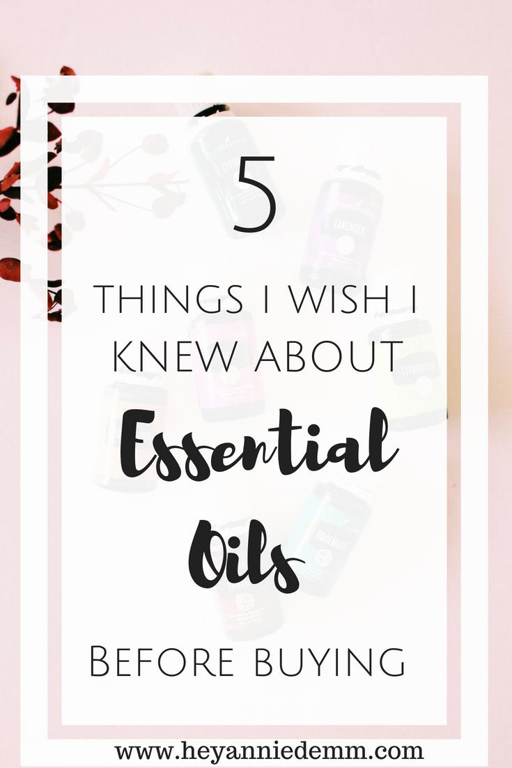 5 Things I Wish I Knew Before Buying Essential Oils // Hey, Annie Demm