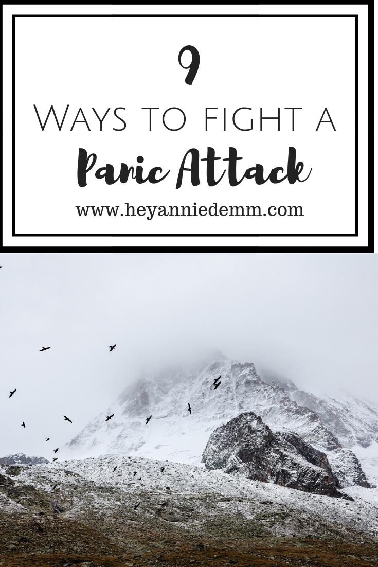 9 Ways to Fight a Panic Attack // Hey, Annie Demm