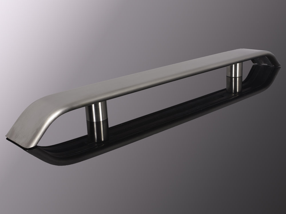 """3.0"""" Extruded Stainless Steel #4 - Brushed"""