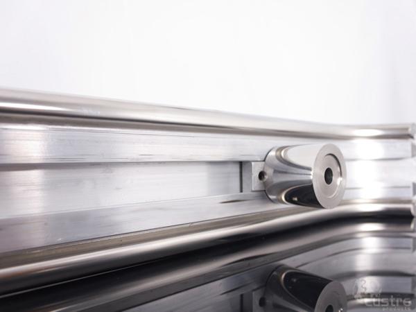 Aluminum Core - Channeled aluminum extrusion