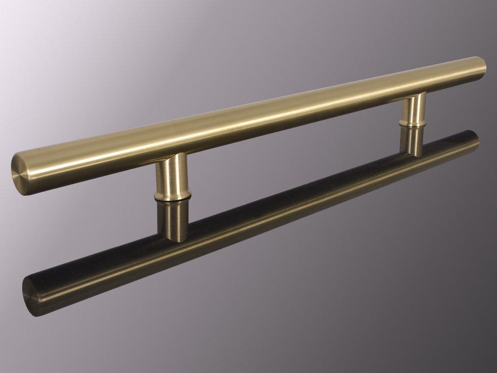 """1.5"""" Round Yellow Brass #4 - Brushed"""