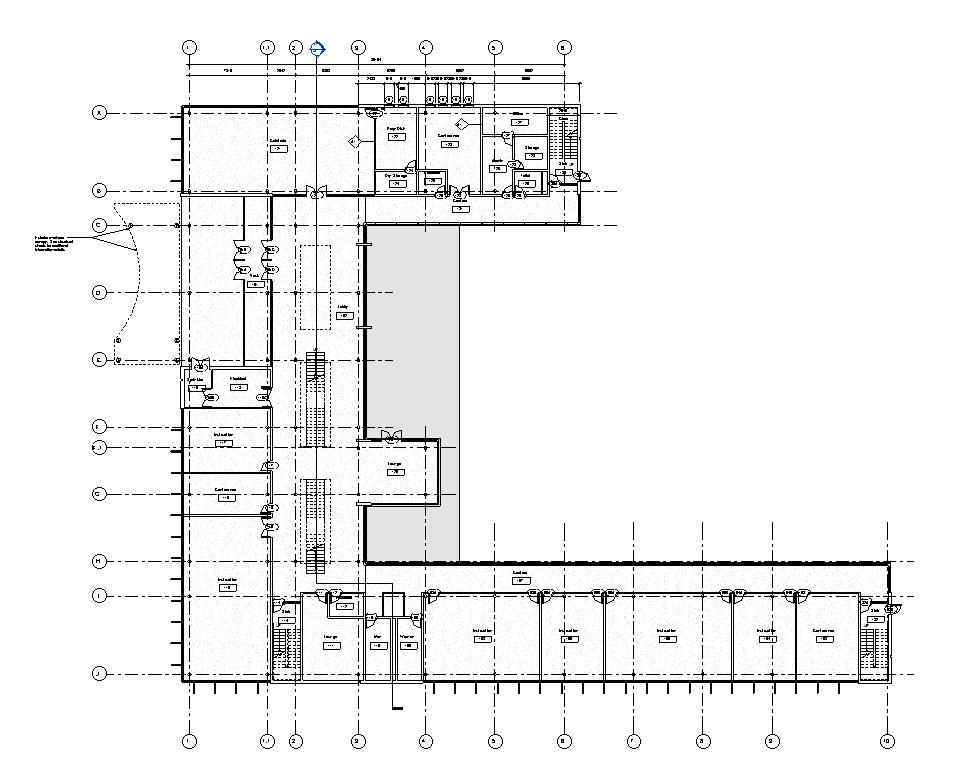 vue montrant le base building avec une une PHASE d'aménagement