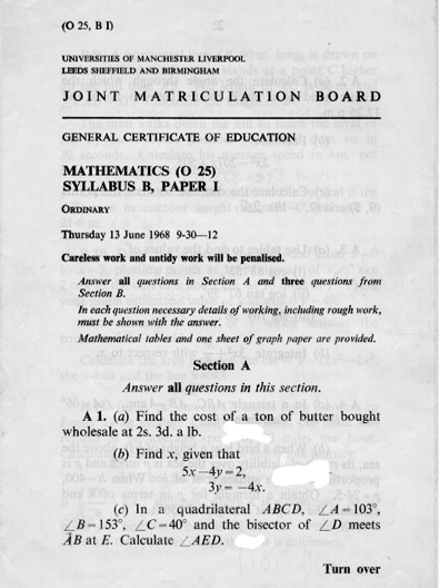 1968 O level page 1.png