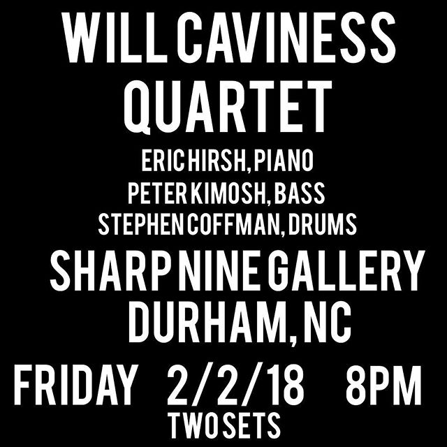 Tomorrow Night!! 2/2/18 see you there #jazztrumpet #jazz #livemusic #fridaynight