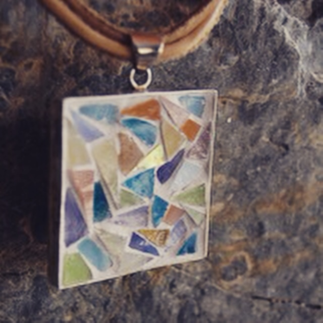 Mosaic Pendant with triangles, 2015