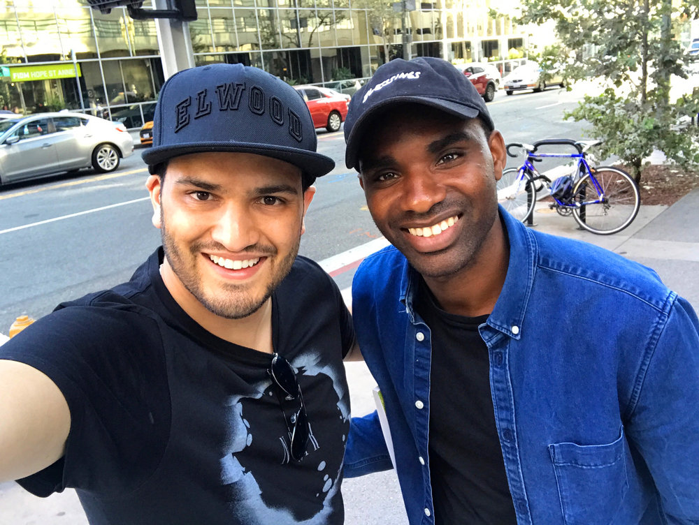 Nathan with Preston in Los Angeles, 2017.