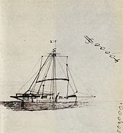 A sketch of the Mignonette  by ship captain Tom Dudley