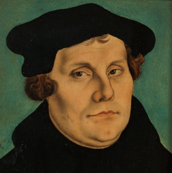 Portrait of Martin Luther by Luther Cranach the Elder                                            (1529)