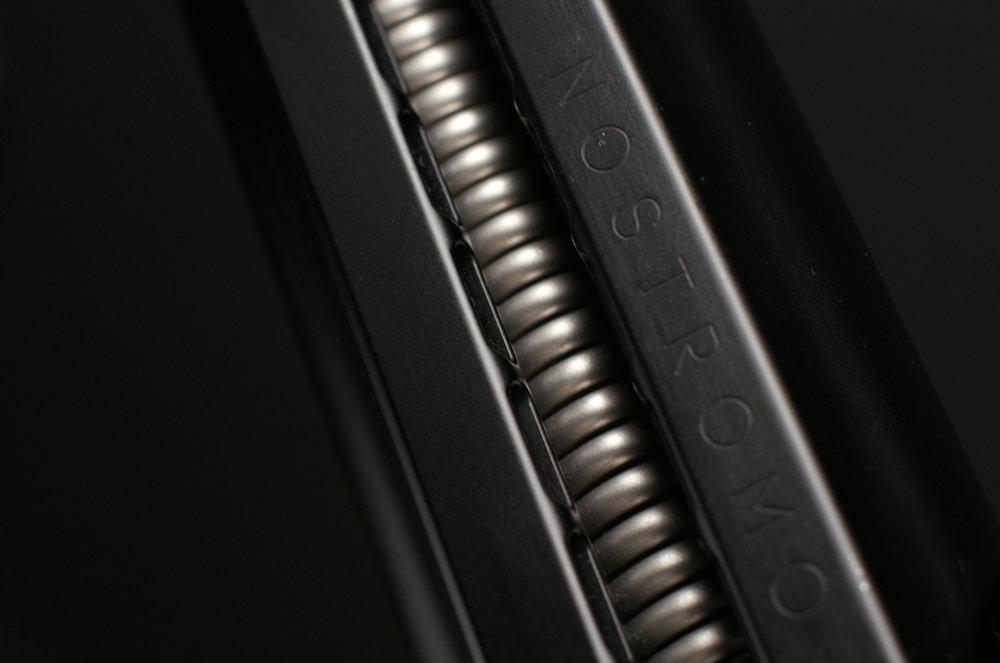 Detail of the Nostromo arm titanium spring.