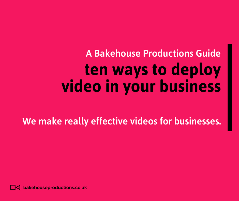 a guide to using video in your business