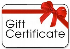 Online Gift Certificates from $20