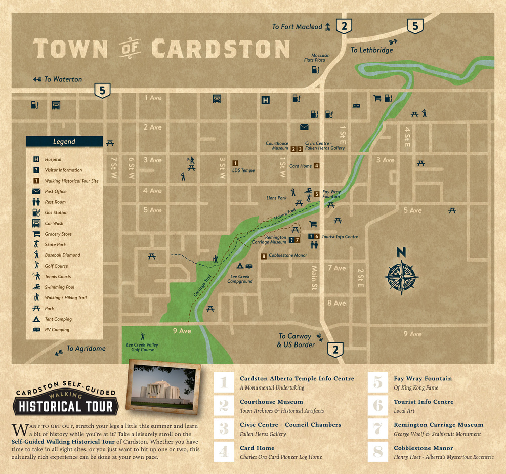 Cardston Map