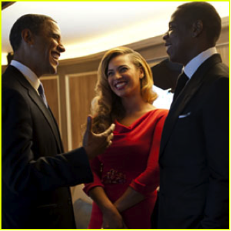 Odds Obama brings along B and Hova – 127%