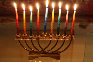 Pictured: Jewish Christmas Candle Thing