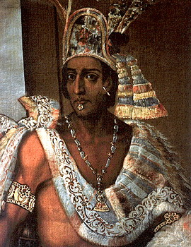The Aztec King Montezuma, seen here wearing one of the two chainz (via internetstones.com)