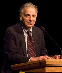 I have yet to see ol' Ralph Nader at one of these green parties, which seems like a cop out.