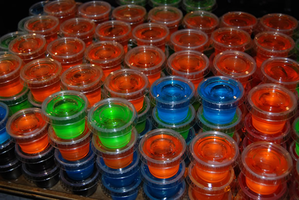 Jello shots, just like they give you at the hospital. (via thefoodinmybeard.com)