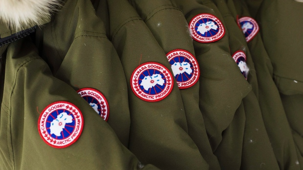 canada-goose-jackets-on-a-factory-rack