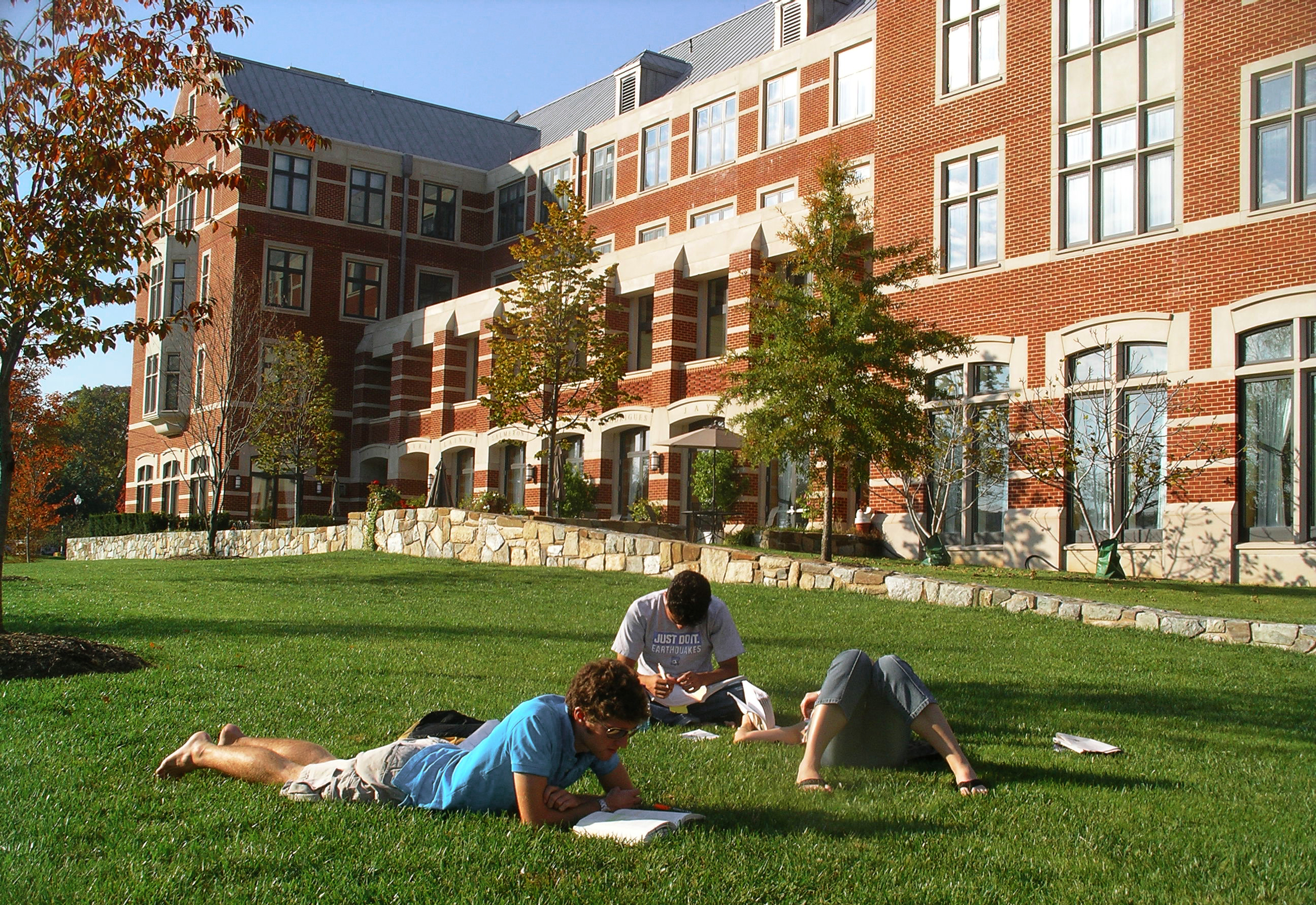 It's important not to have a grass allergy in college.