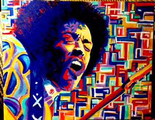 Jimi Hendrix Curtis Marden