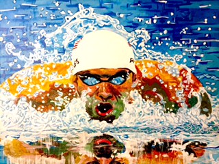10 Michael Phelps portrait by Curtis Marden 7.JPG