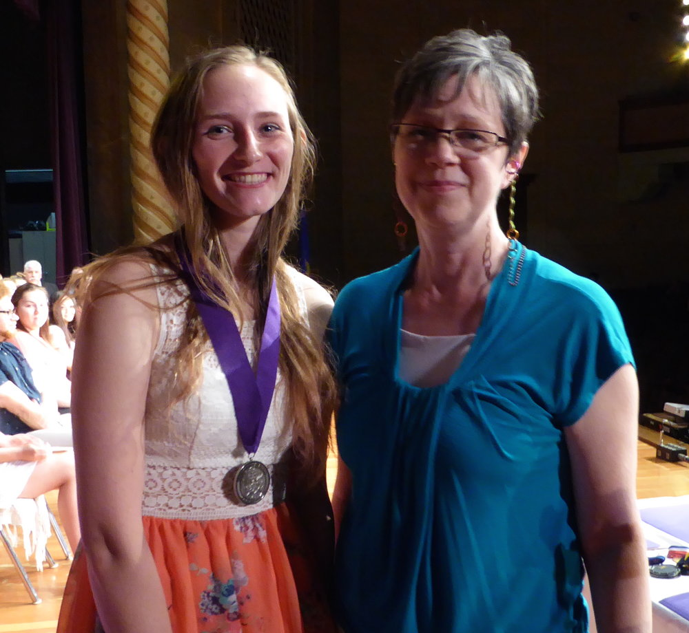 Rose (right) with Scholarship Recipient, Nikita Konkel