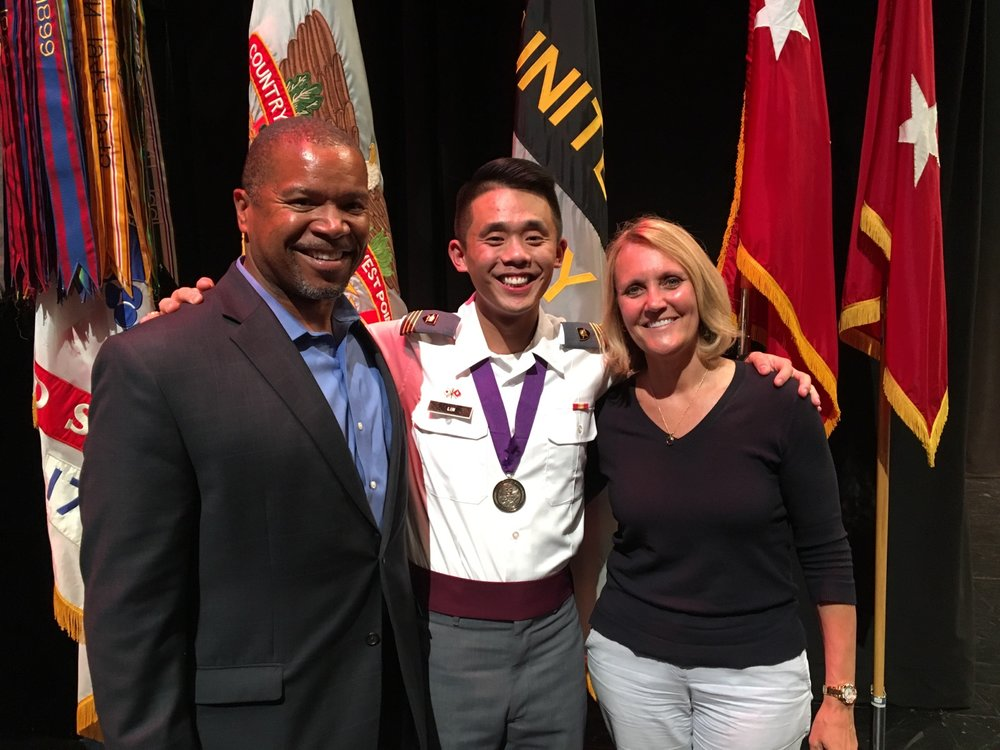 Aaron Lin of received the Robert Foley Scholarship of Honor at the United States Military Academy at West Point.