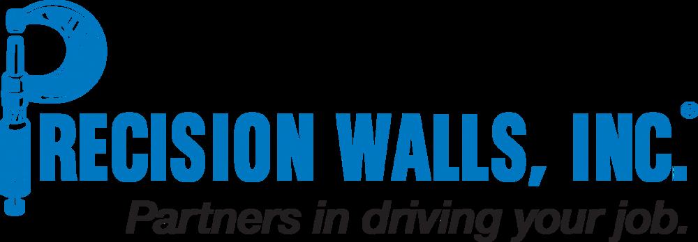 Precision Walls Inc logo black tagline PNG.PNG