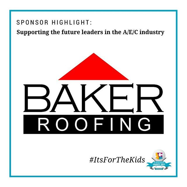 Thank you to one of our Eagle Sponsors, @bakerroofing Your generosity is supporting the future leaders in the A/E/C industry and helping us provide scholarships to the students who graduate from the program. #itsforthekids #sponsor #golf #aec #aecleaders @acementor @acementorrdu @macgregordowns @macgregordownscountryclub