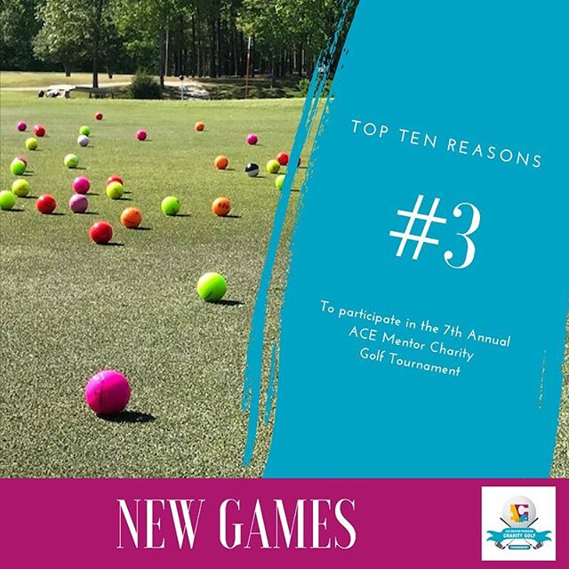 Reason #3 to participate in the 7th Annual ACE RDU Mentor Golf Tournament? New Games!! #itsforthekids