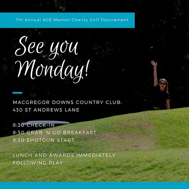 It's finally here! See you on Monday at @macgregordownscountryclub at 8:30 am! #itsforthekids