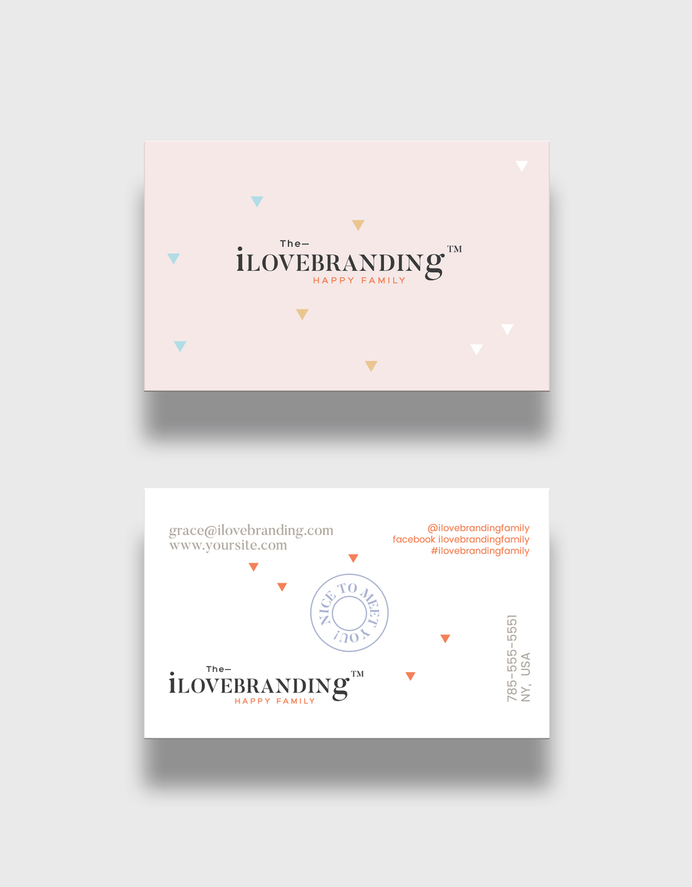 "business cards light + dark back versions  ( standard us size 3.5""x2.0"" )"