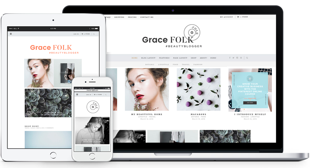 Grace Folk Mini Branding for Bloggers